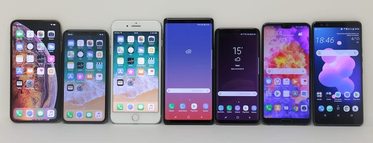 High-End Smartphone Testgeräte